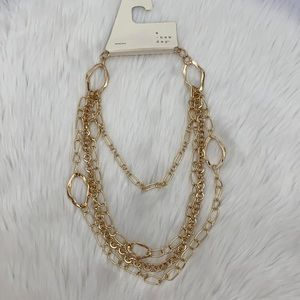 4/$20 A New Day 4 Strand Gold Chain Necklace